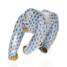 Herend Porcelain Fishnet Figurine of a Gorilla